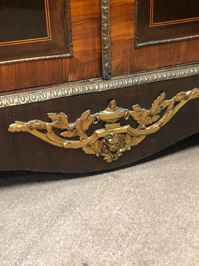 19th Century France Wood Napoleon III Kingwood Rosewood Marquetry Cabinet, 1850s For Sale 7