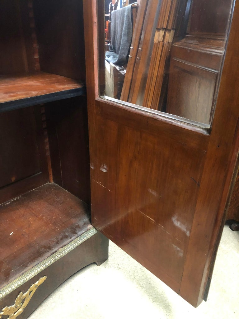 19th Century France Wood Napoleon III Kingwood Rosewood Marquetry Cabinet, 1850s For Sale 9