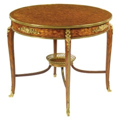 19th Century François Linke Ormolu Mounted Kingwood and Satiné Center Table