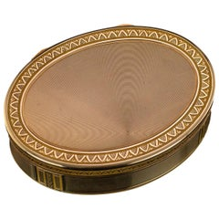 19th Century French 18-Karat Gold Snuff Box, circa 1830