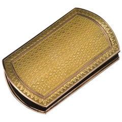 19th Century French 18-Karat Solid Gold Snuff Box, circa 1880