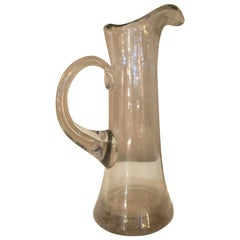 19th century French Absinthe Blown Glass Carafe, pitcher