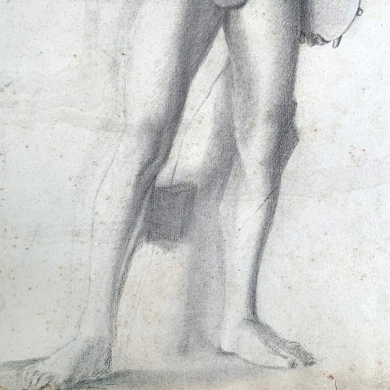 19th Century French Academic Figure Drawing For Sale 5