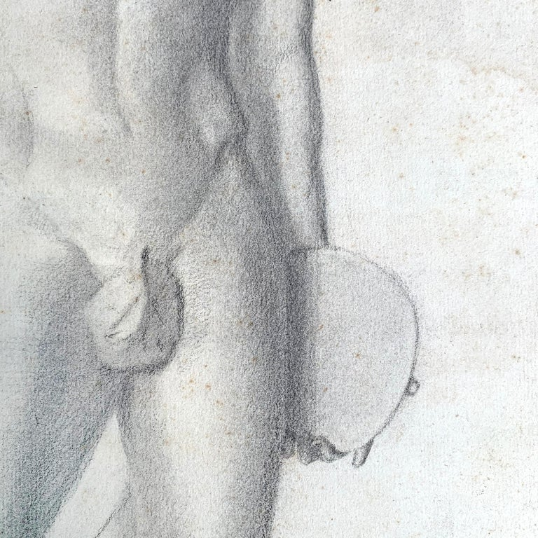 19th Century French Academic Figure Drawing For Sale 3
