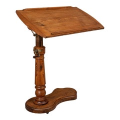 19th Century French Adjustable Tilt-Top Tray Table