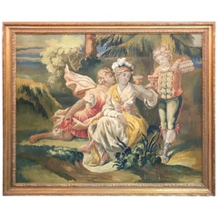 19th Century French Allegorical Pastel Painting