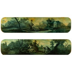 19th Century French Anonymous Pair of Landscape Oil on Canvas Paintings