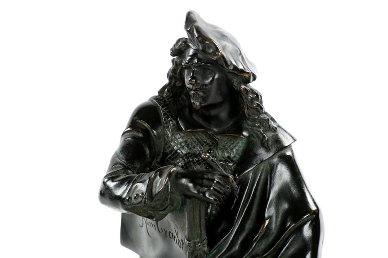 19th Century French Antique Bronze Sculpture of Rembrandt by Carrier-Belleuse For Sale 1
