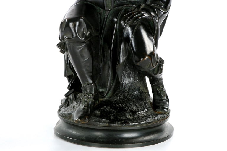 19th Century French Antique Bronze Sculpture of Rembrandt by Carrier-Belleuse For Sale 2