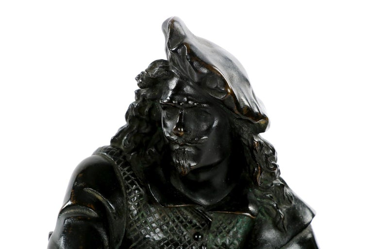 19th Century French Antique Bronze Sculpture of Rembrandt by Carrier-Belleuse For Sale 3