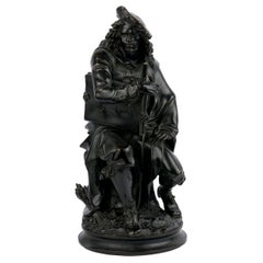 19th Century French Antique Bronze Sculpture of Rembrandt by Carrier-Belleuse