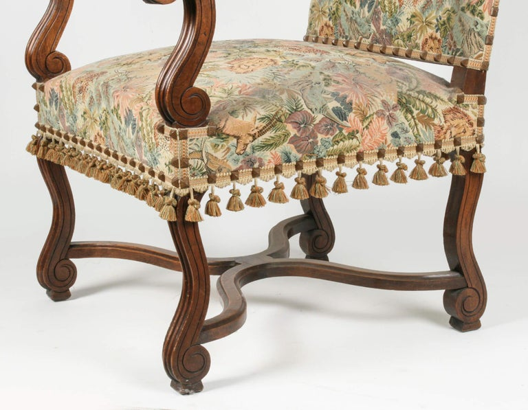 Upholstery 19th Century French Armchair Louis XIV Style For Sale