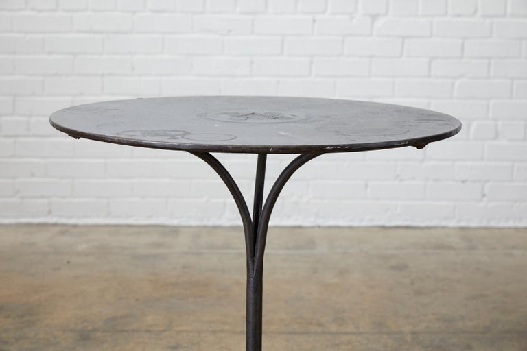 19th Century French Art Nouveau Iron Pub Bistro Garden Table For Sale 9