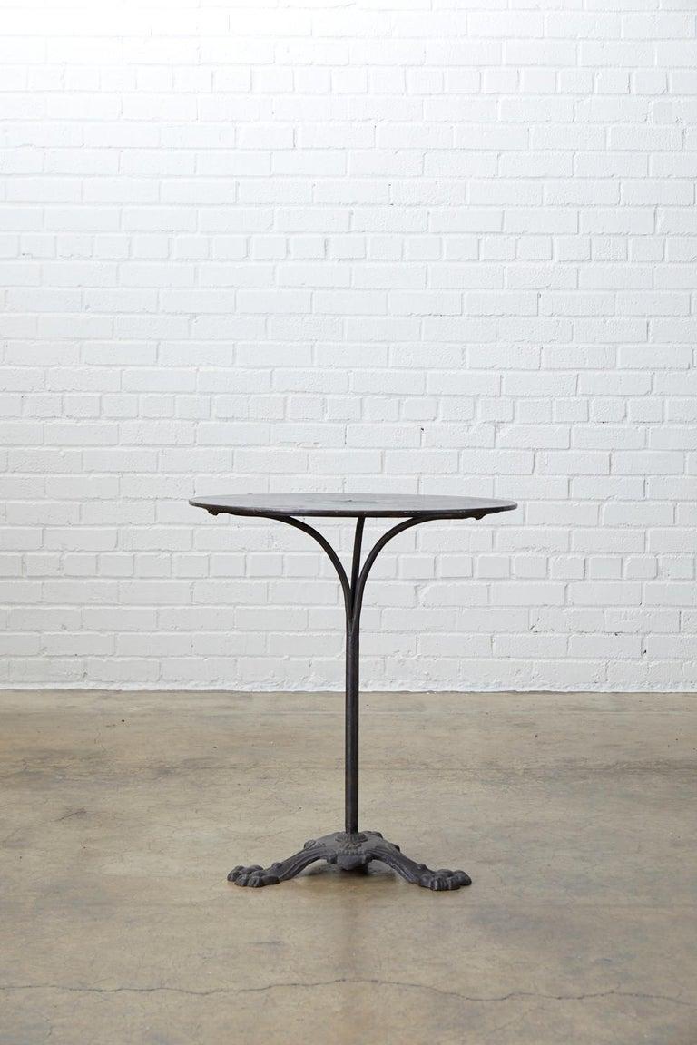 19th Century French Art Nouveau Iron Pub Bistro Garden Table For Sale 11