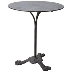 19th Century French Art Nouveau Iron Pub Bistro Garden Table