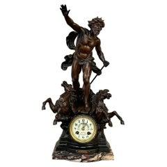 19th Century French Art Nouveau Period Mantel Clock by Moreau