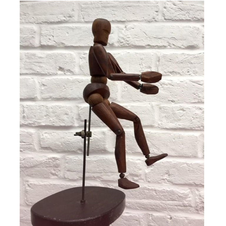 19th Century, French Articulated Wooden Artists Lay Figure, Mannequin on Stand For Sale 6