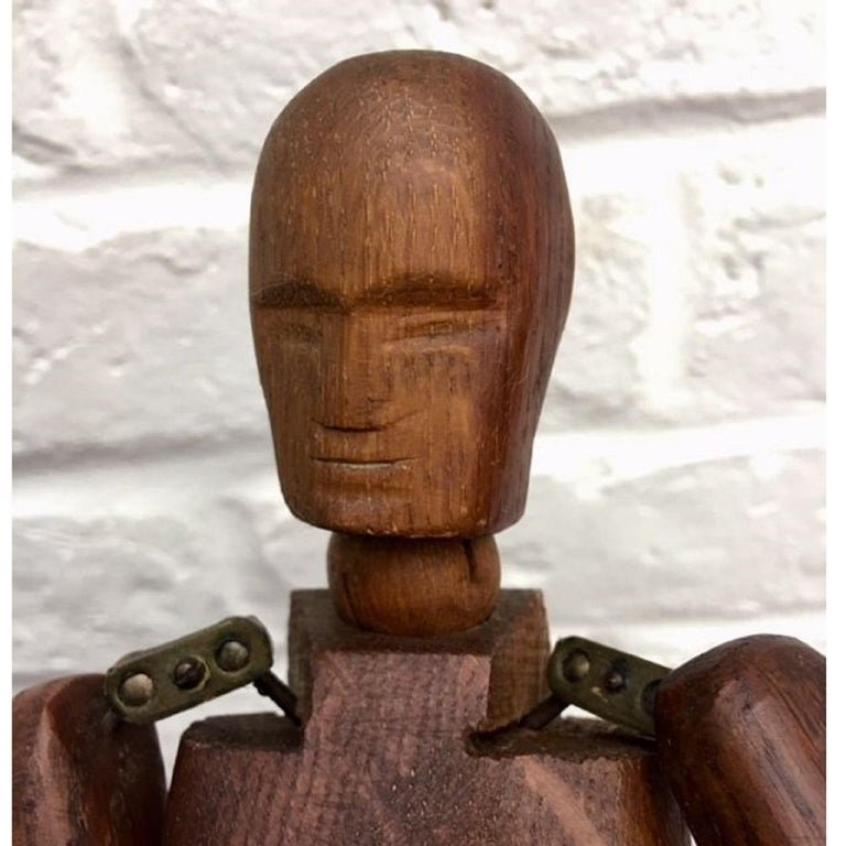 Victorian 19th Century, French Articulated Wooden Artists Lay Figure, Mannequin on Stand For Sale