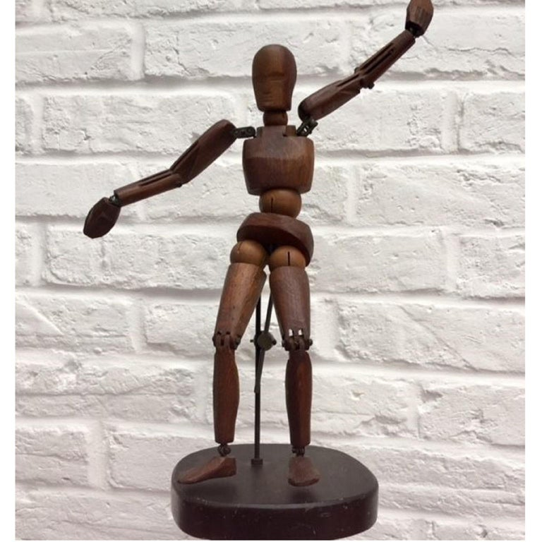 Late 19th Century 19th Century, French Articulated Wooden Artists Lay Figure, Mannequin on Stand For Sale