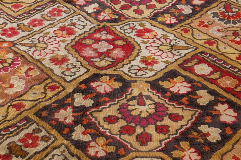 Hand-Knotted 19th Century French Aubusson Rug For Sale