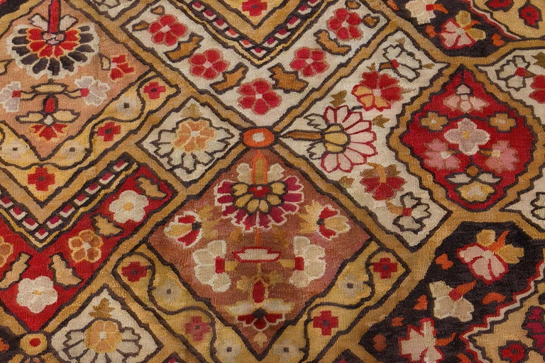 Wool 19th Century French Aubusson Rug For Sale