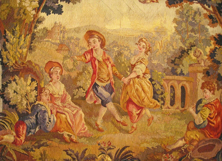 19th Century French Aubusson Tapestry In Good Condition For Sale In New York, NY