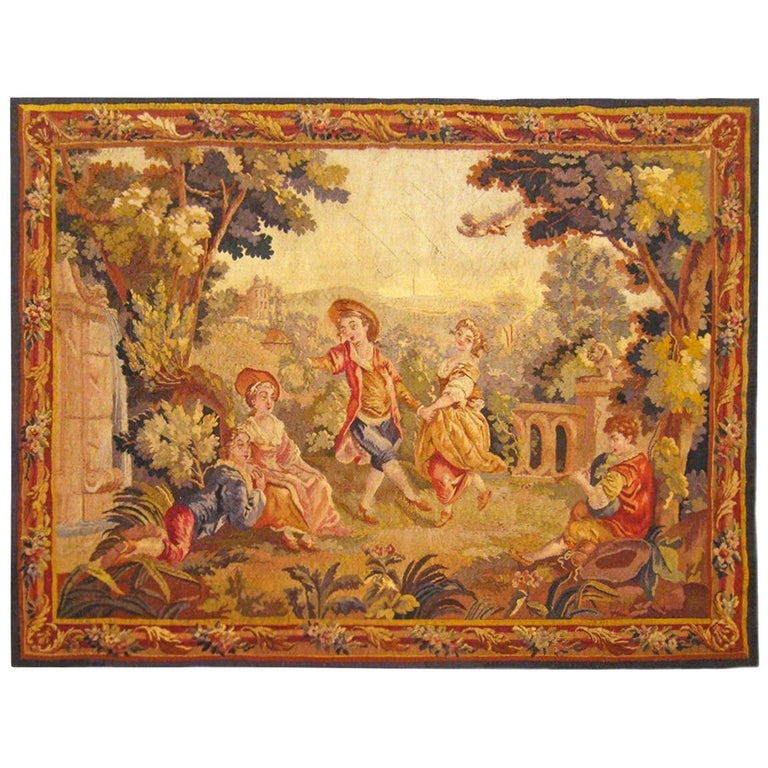 19th Century French Aubusson Tapestry For Sale