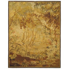 19th Century French Aubusson Verdure Tapestry