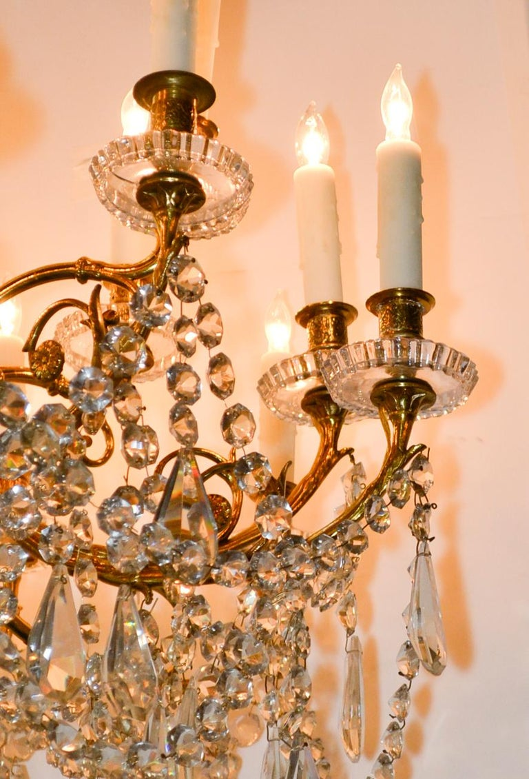 19th Century French Baccarat Chandelier In Good Condition For Sale In Dallas, TX