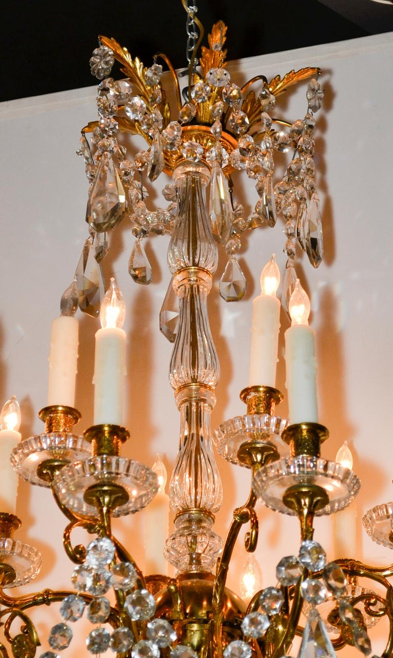 19th Century French Baccarat Chandelier For Sale 1