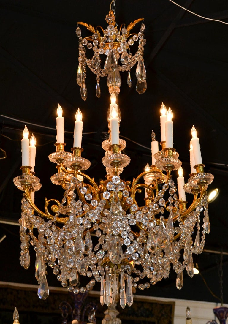 19th Century French Baccarat Chandelier For Sale 2