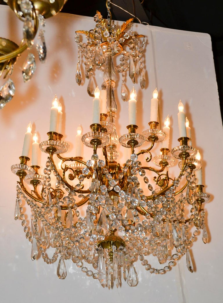 19th Century French Baccarat Chandelier For Sale 3