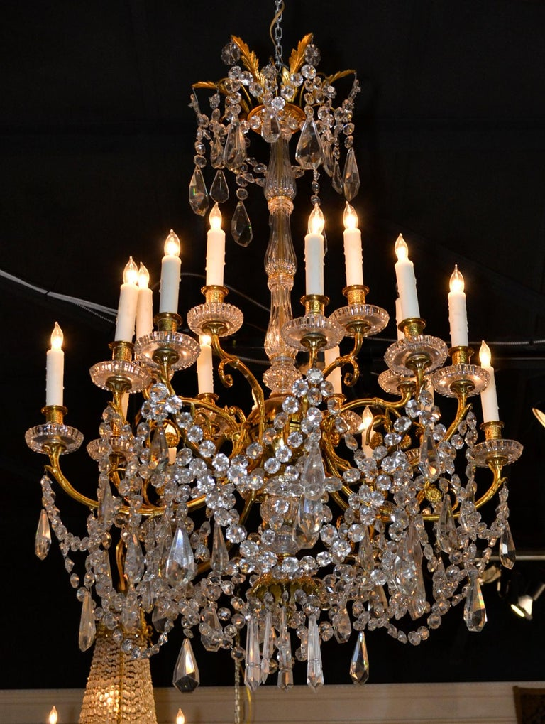 19th Century French Baccarat Chandelier For Sale 4