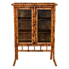 19th Century French Bamboo Bookcase