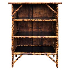 19th Century French Bamboo Bookcase, Three Shelves