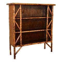 19th Century French Bamboo Shelf