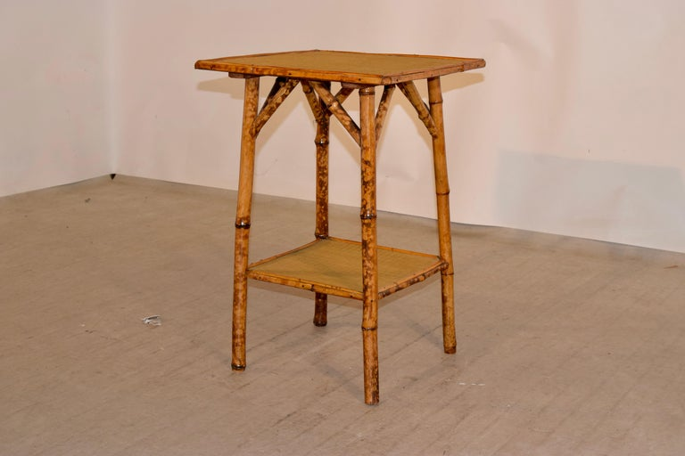 Art Nouveau 19th Century French Bamboo Side Table For Sale
