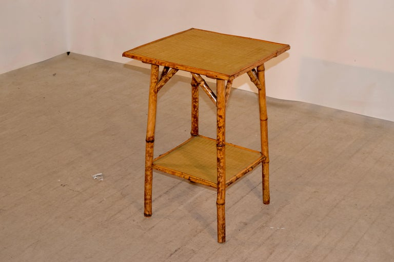 19th Century French Bamboo Side Table In Good Condition For Sale In High Point, NC