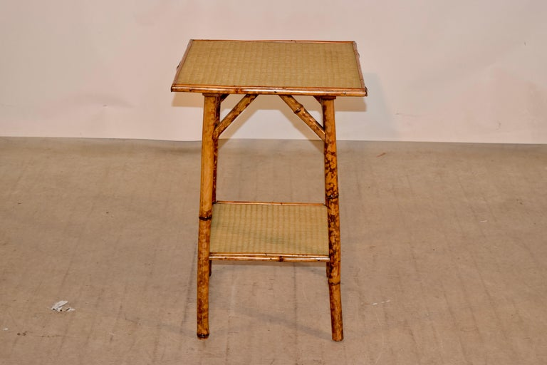 19th Century French Bamboo Side Table For Sale 1