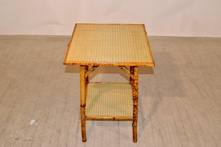 19th Century French Bamboo Side Table For Sale 2