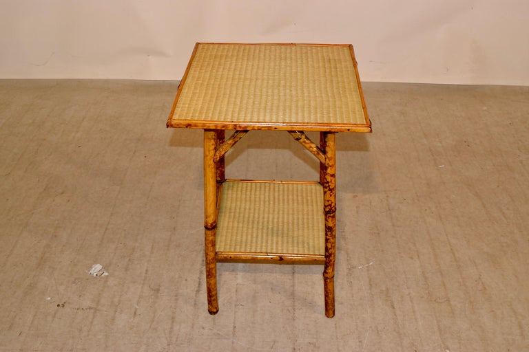 19th Century French Bamboo Side Table For Sale 3