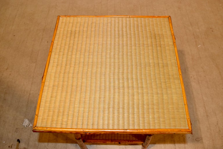 19th Century French Bamboo Side Table For Sale 4