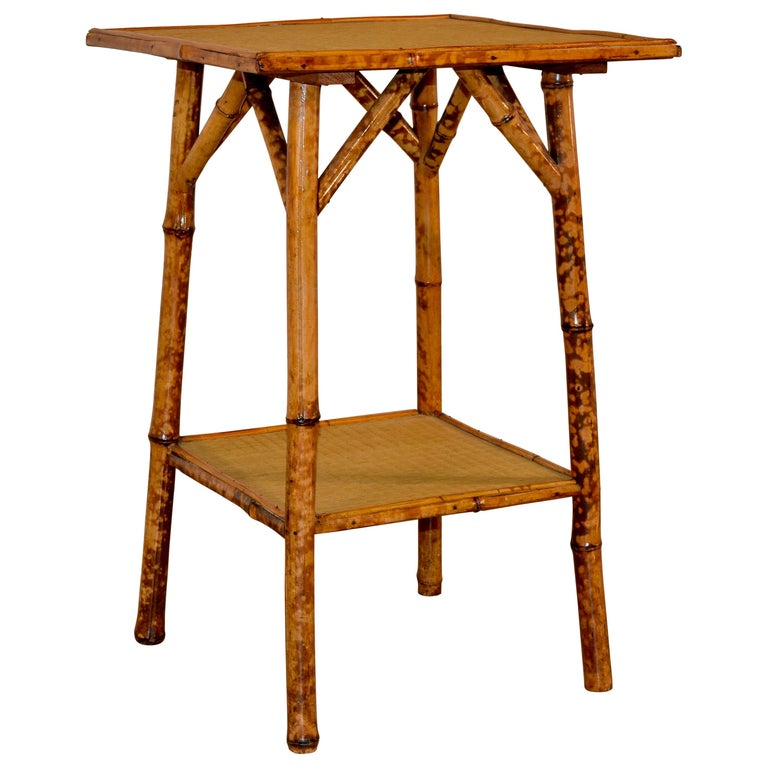 19th Century French Bamboo Side Table For Sale