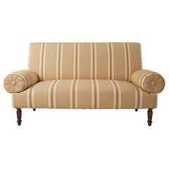 19th Century French Banquette Upholstered in Schumacher Fabric