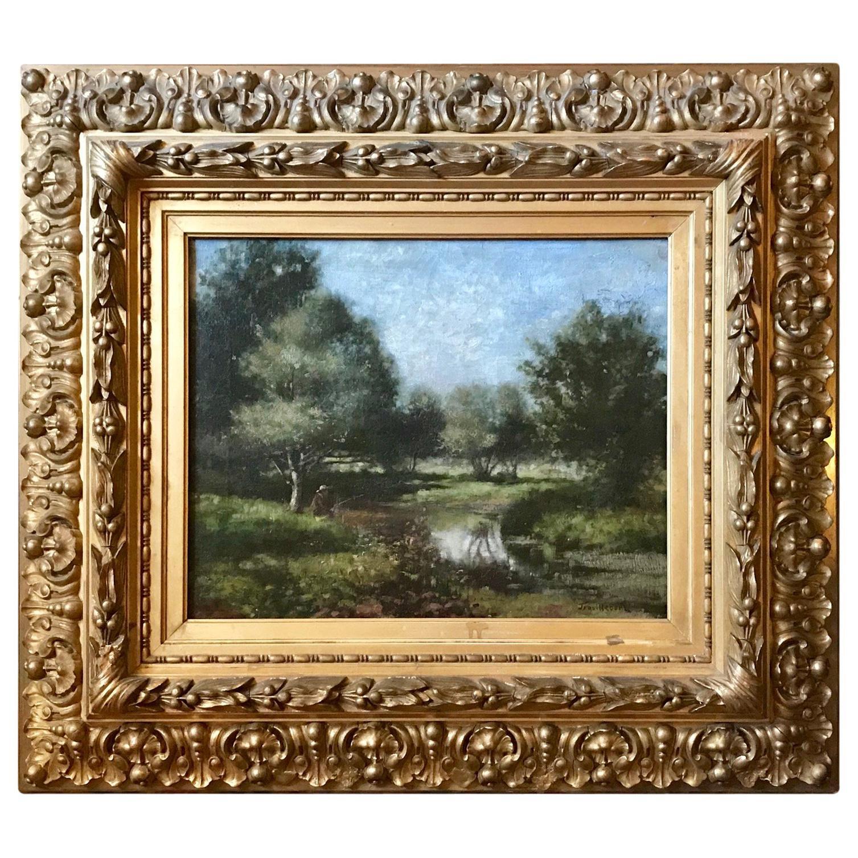 19th Century French Barbizon School Landscape Painting