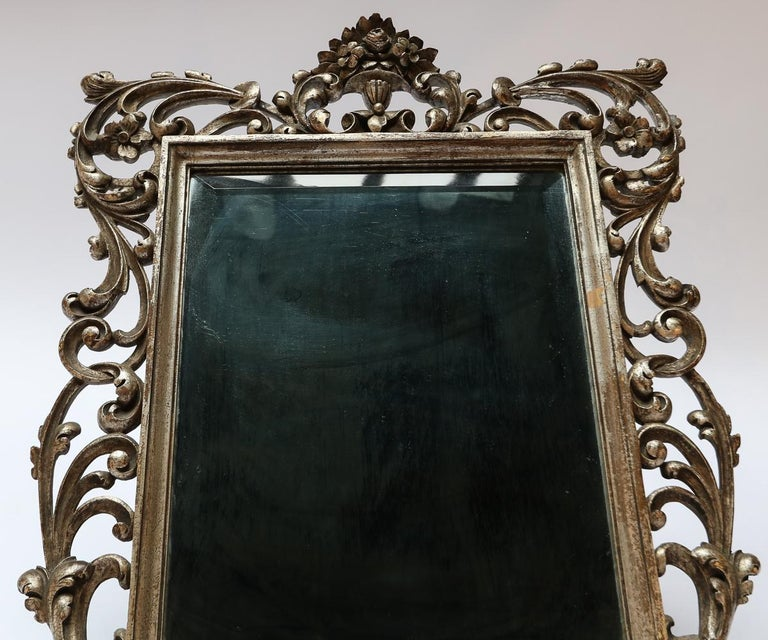 19th Century French Baroque Giltwood Vanity or Wall Mirror For Sale 1