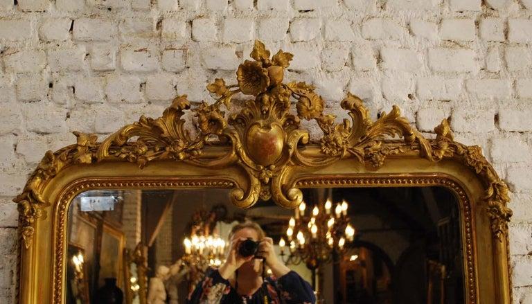 19th Century French Baroque Gold Gilt Louis Phillipe