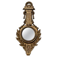 19th Century French Baroque Style Barometer Case Mirror