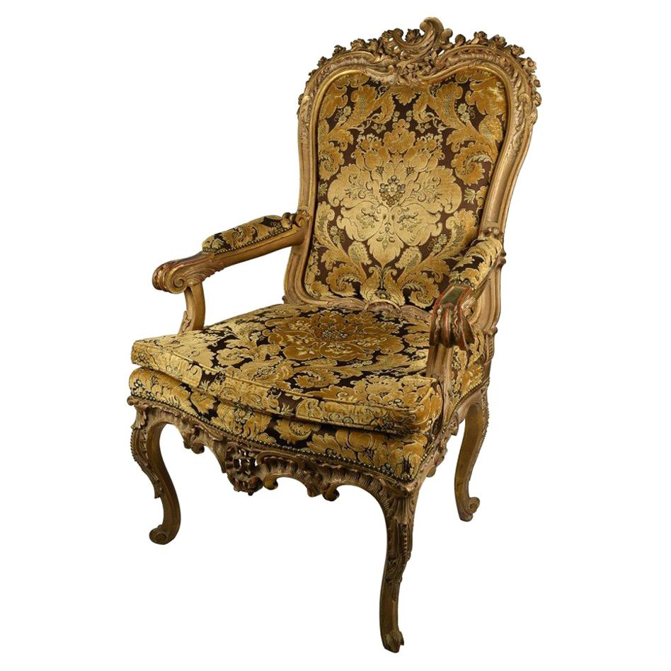 19th Century French Baroque Style Upholstered Armchair