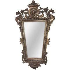 19th Century French Baroque Wall Mirror